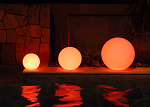 Illuminated Spheres for hire