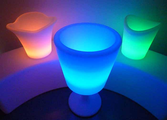 Illuminated ice buckets for hire